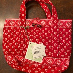 Vera Bradley Little Toggle Tote NWT Nantucket Red